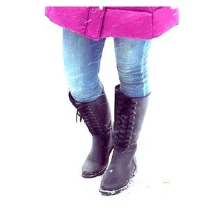 Shoes - Laced rain boots